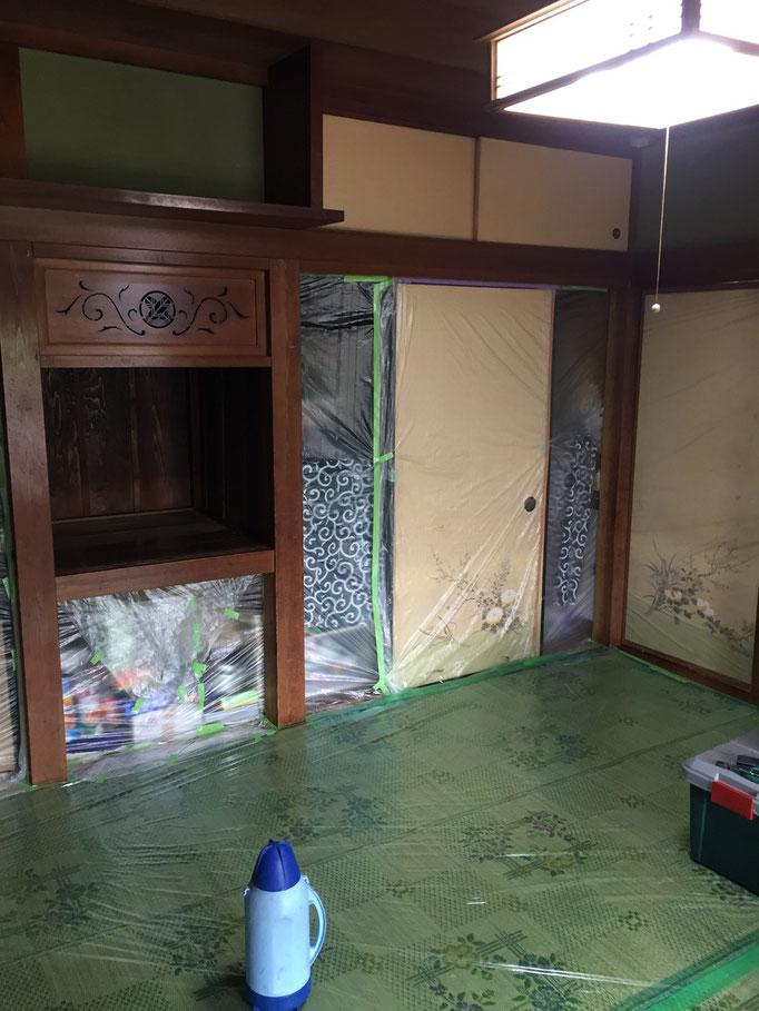 和室白木施工前2