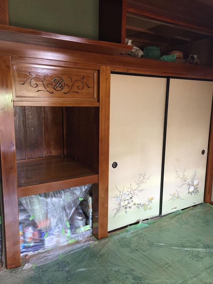和室白木施工後2