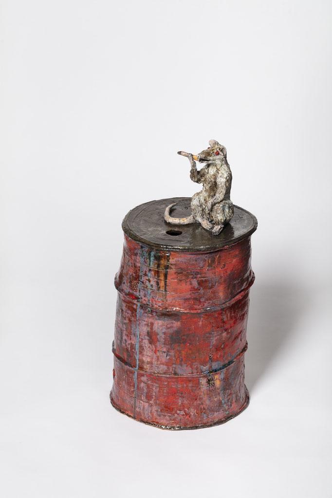 PINKY (INEBR) 2021 Glasierte Keramik 70 x 35 x 35 cm