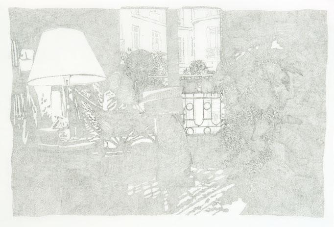 CRISTINA OHLMER, RACHIDA LIEST ARAKI  2005 Chinatusche auf Transparentpapier 90 x 120 cm