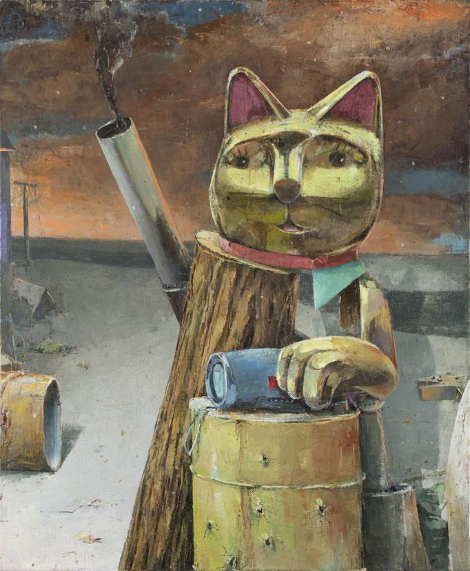 KATZENGOLD (OWOT) 2021 Öl auf Leinwand 170 x 130 cm