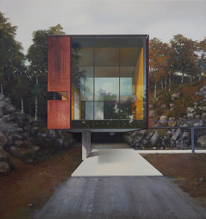 MODERN HOUSE, NO. 32 - Haus am Wald, 2020, 160 x 150 cm