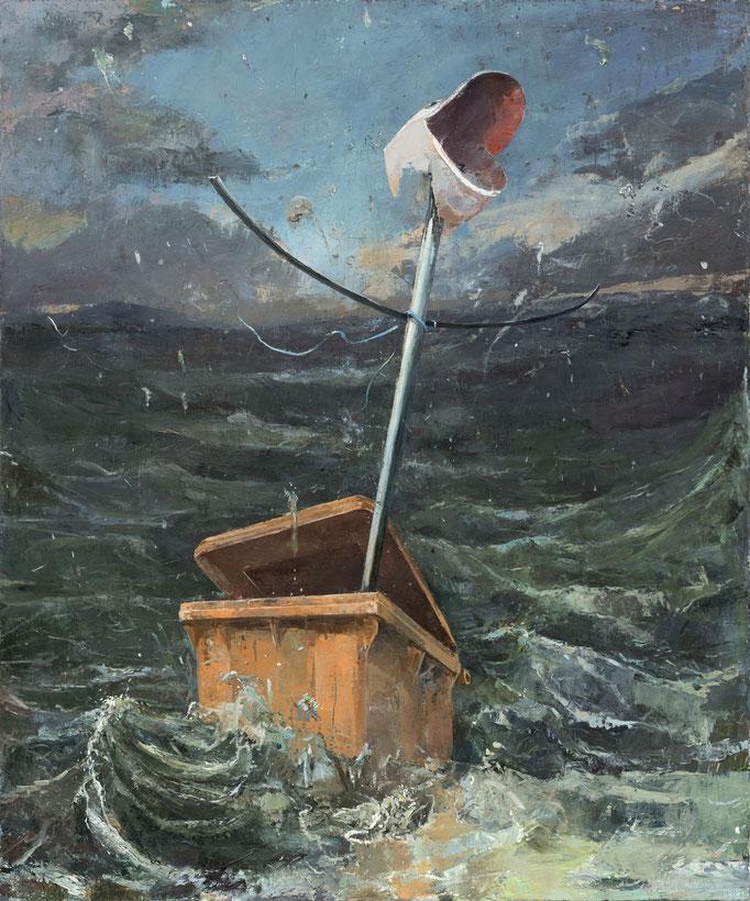 SONG TO THE SIREN (FLOOD MOTTETE) 2020 Öl, Pigmente und Farbkappen auf Leinwand Collage 240 x 200 cm