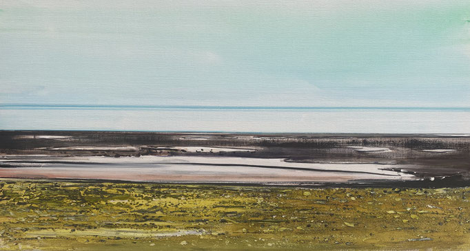 KOEN VERMEULE,  YELLOW COAST, 2020, Öl auf Leinwand, m70 x 130 cm