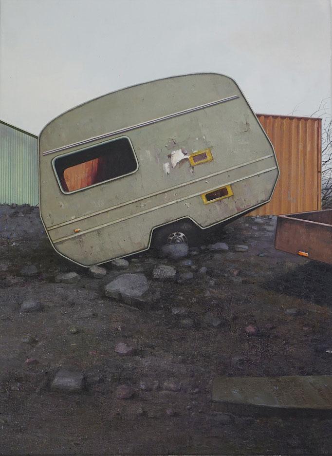 MOBIL, 2020, Öl auf Leinwand, 90 x 65 cm