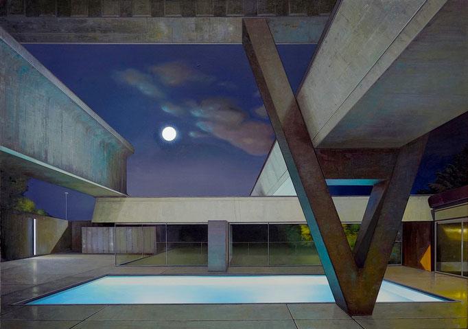 RAUMSTATION, Bühne, 2020, Öl auf Leinwand, 170 x 240 cm