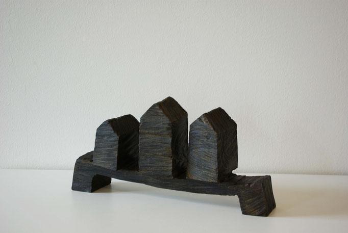 WERNER POKORNY, Brücke, I, 2007, Bronzeguss, 19 cm x 38 cm x 10 cm, Aufl. 5 + e.