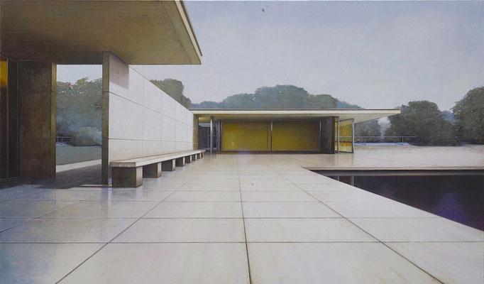PAVILLON, 2020, Öl auf Leinwand, 150 x 250 cm