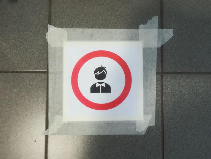 Wartezone vor den Toiletten
