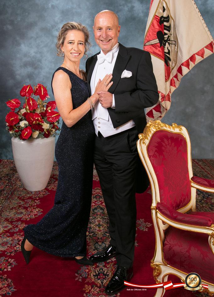 Ball der Offiziere, Wiener Hofburg, mit Silke Lange