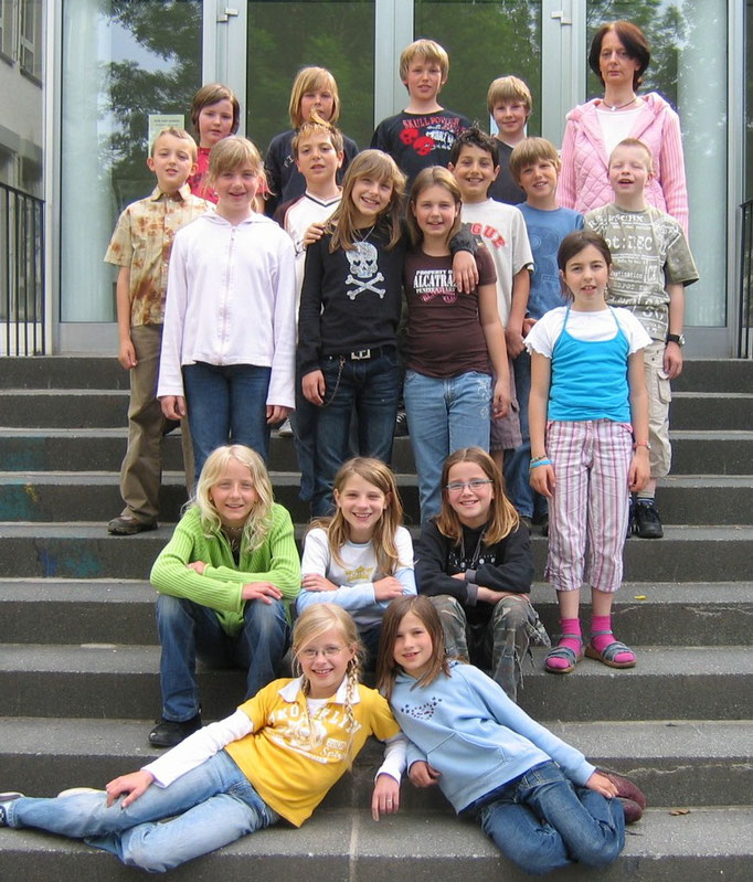 Abgänger 2007 (Gutenberg) - Klassenlehrerin Frau Wäsche