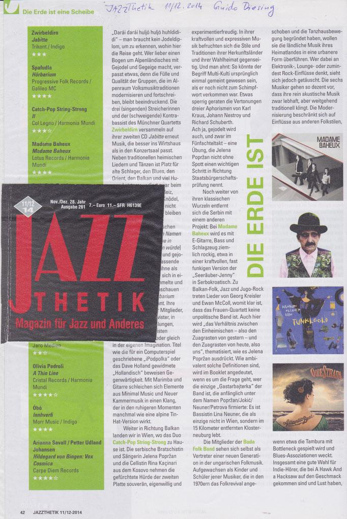 Jazzthetik (D) 2014