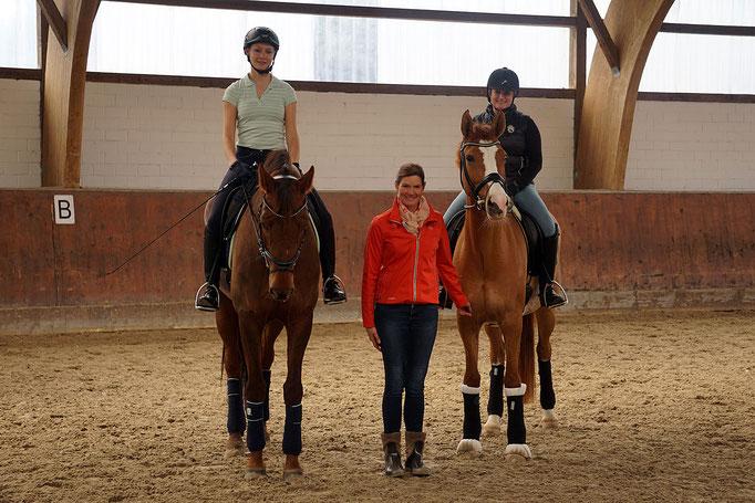 v. l. Stefanie von Keutz, Kristina Straeten-Winkler und Nicole Bercz