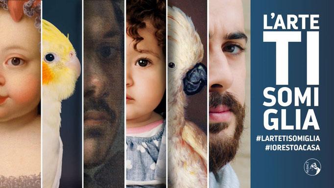イタリア文化財・文化活動省によるイタリア博物館・美術館のキャンペーン「ART LOOKS LIKE YOU」では、自身や家族、ペットまでもが絵画の主人公に似ているとして、文化遺産は国民の未来であることを印象付けようとするキャンペーン