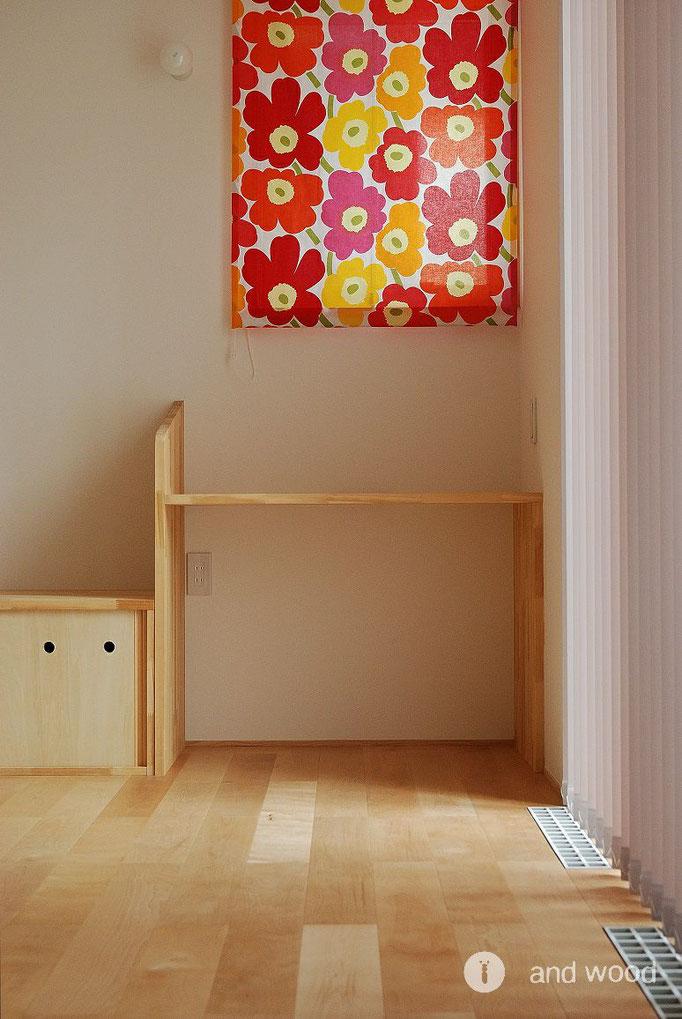 バーチ 単板貼 フローリング 幅広 床暖房  施工例 アンドウッド andwood