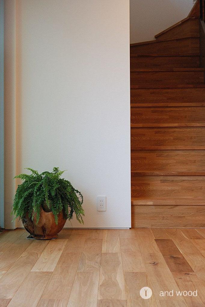 オーク  オイル塗装 フローリング andwood アンドウッド 施工例 新築戸建
