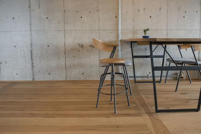 ヒッコリー フローリング 単板貼 andwood アンドウッド 施工事例