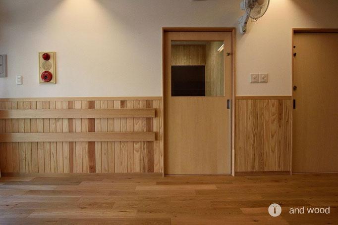 オーク 無垢 フローリング 床暖房 アンドウッド andwood 施工例 保育園