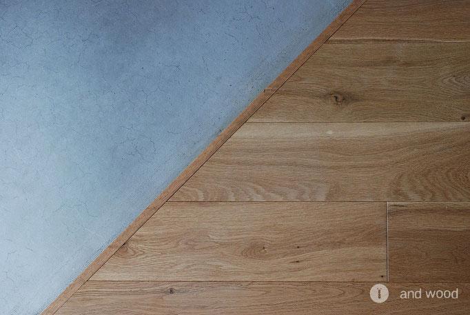 オーク 単板貼 キャラクター オイル塗装 フローリング 施工例 アンドウッド andwood