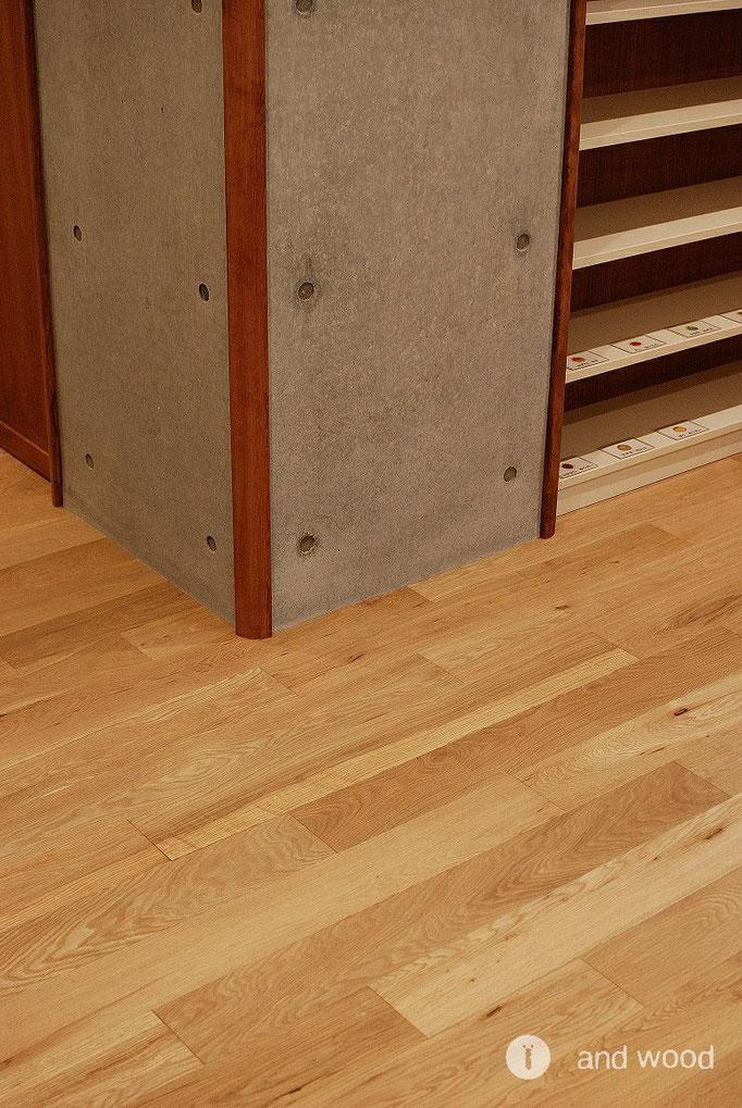 オーク 幅広 単板貼り 床暖房 フローリング アンドウッド andwood 保育園 施工事例