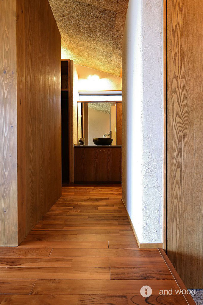 チーク ナチュラル オイル塗装 フローリング 無垢 andwood アンドウッド 施工例 神田陸建築設計事務所