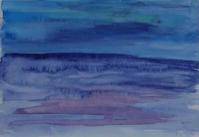 Nr.-L14: Flimmernde See, Aquarell, A 4, Papier