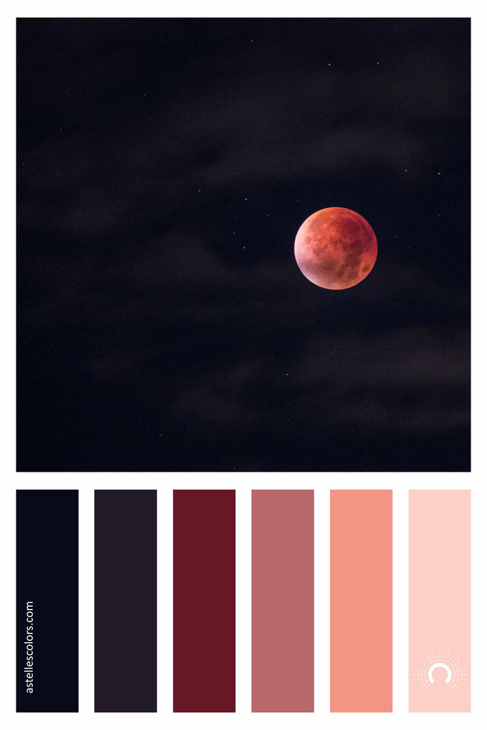 warm cool color harmony - red moon