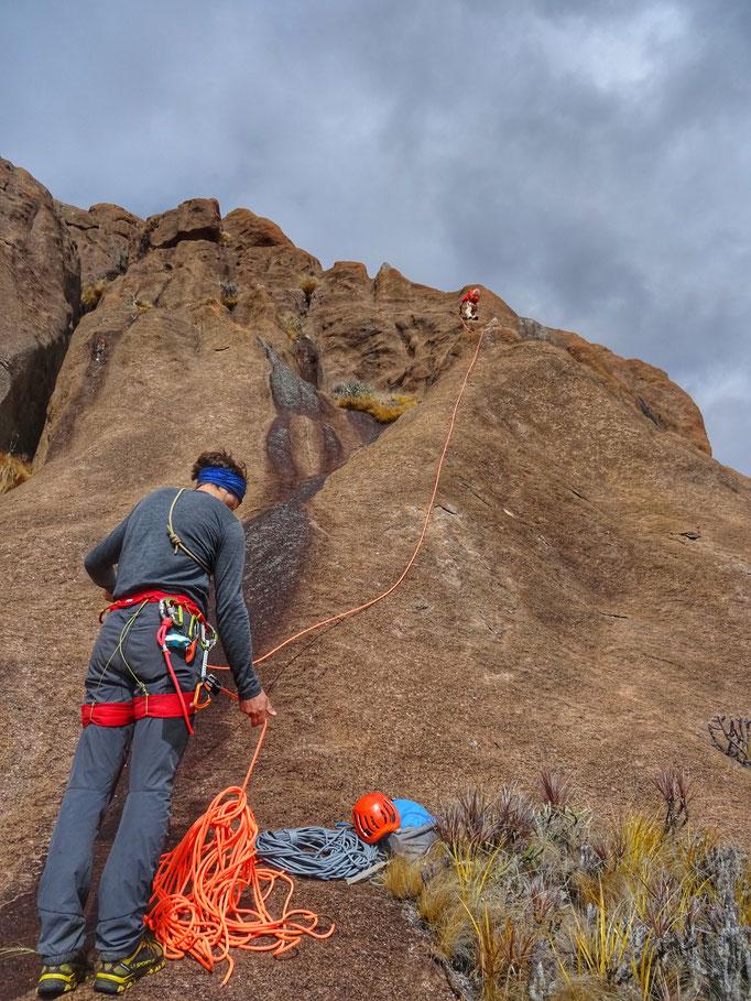 L'escalade facile avant le sommet