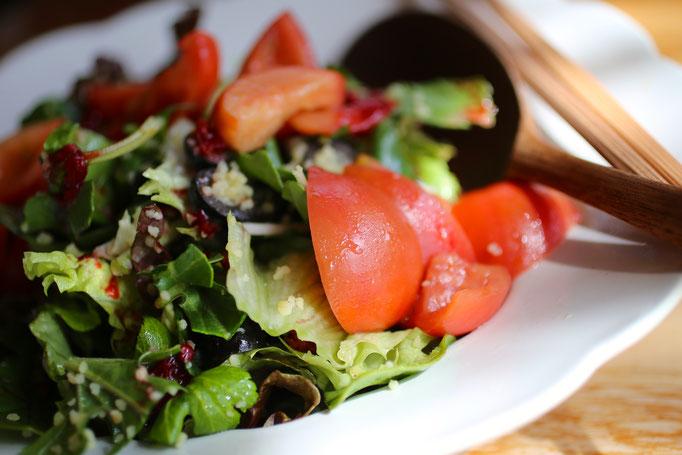 木いちごとルーコラのサラダ