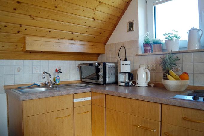 Eine kleine, aber voll ausgestattete Küchenzeile