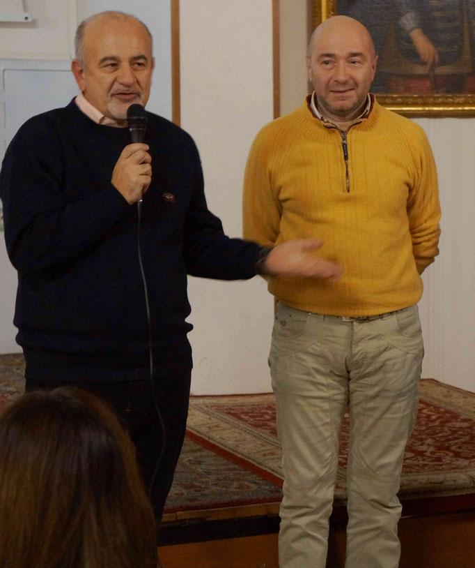 Il regista Mauro Vittorio Quattrina con gli autori del libro Jean Pascal Marcacci e Bruno Zama