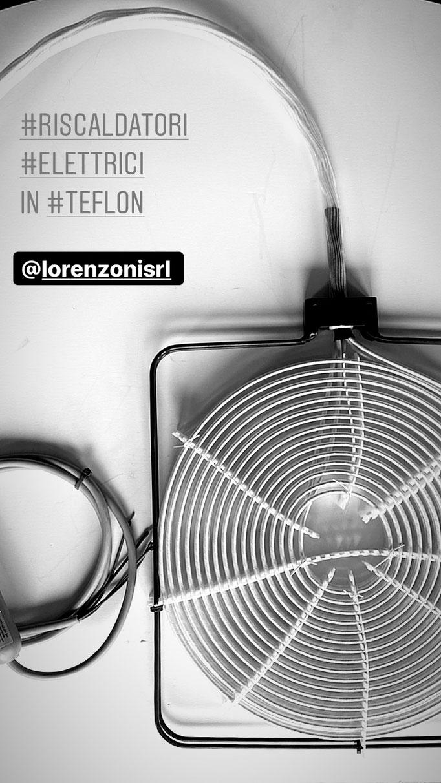 Riscaldatori elettrici in teflon Lorenzoni srl