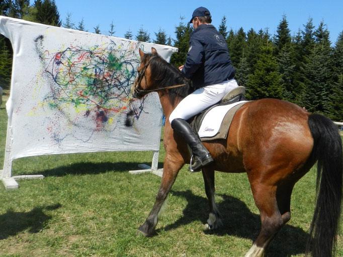 """Georgiritt - """"Kunst zu Pferd mit Hindernissen"""""""