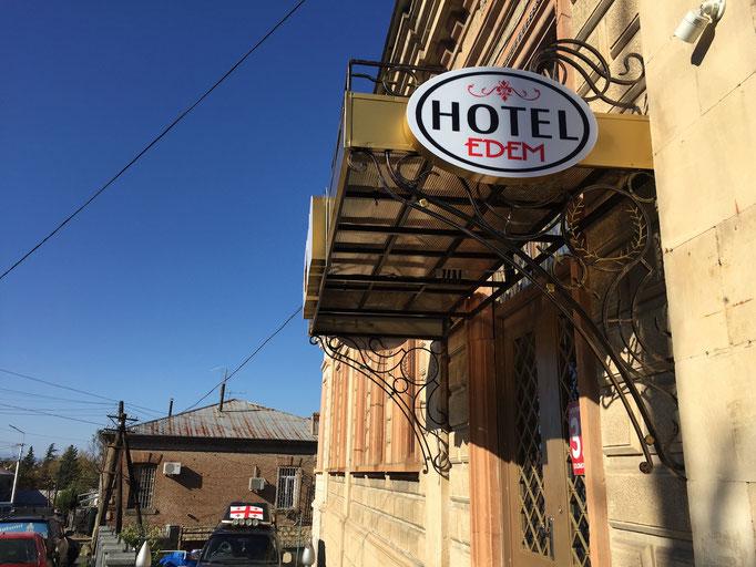 Hotel Edemi in Kutaisi - Eingang