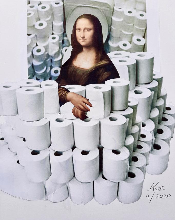 """Collage auf Papier  """"Oh happy day""""  2020"""