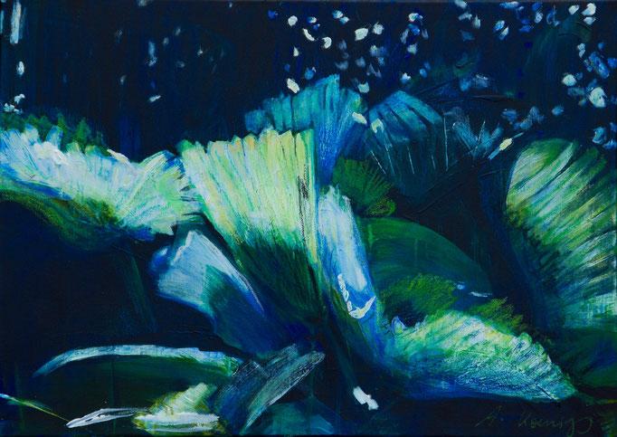 "Acryl auf Leinwand 70x50 ""Botanischer Garten"" Sri Lanka 2011"