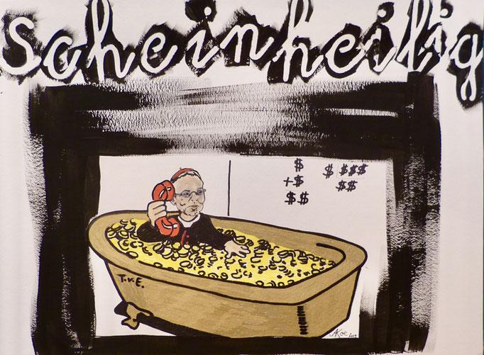"""Acryl auf Papier """"Der Bishof"""""""