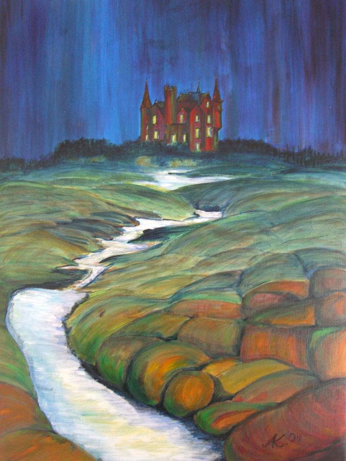 """Chateau de Quiberon"" 2004 - Acryl auf Leinwand 50x70 - Privatbesitz"