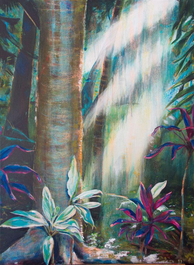 """""""Botanischer Garten 1"""" Brisbane 2014 -  Mischtechnik auf Leinwand 80x60"""