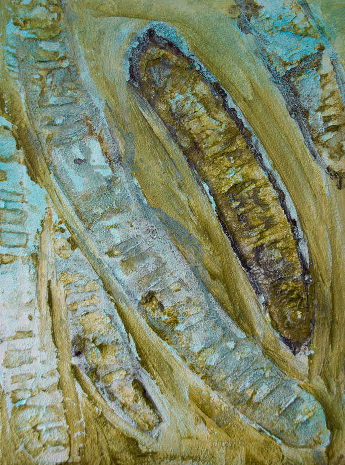 """Strukturpaste auf Leinwand 40x50  """" Schoten""""  2015,  Australienserie"""