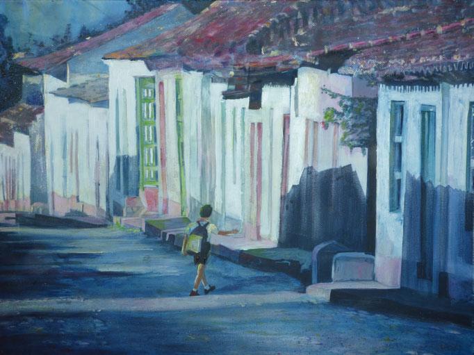 """""""Trinidad"""" 2014 - Acryl auf Leinwand 80x60 - 4,5 cm Dicke"""