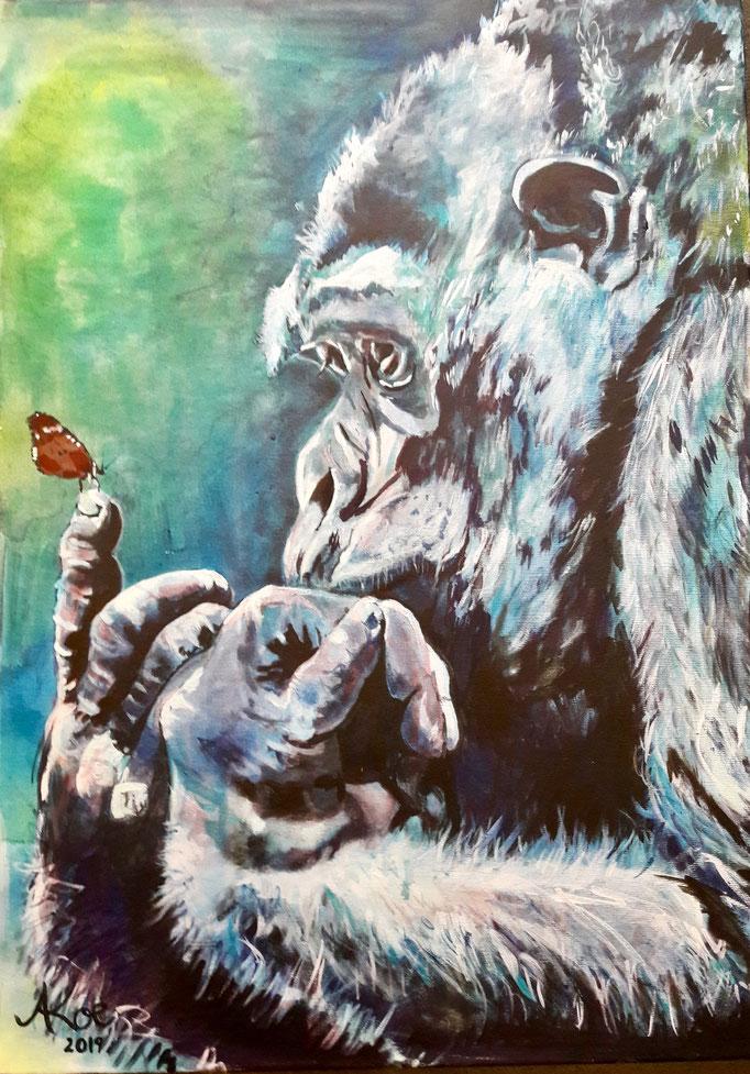 """Time to change"", Acryl auf Leinwand 50x70"