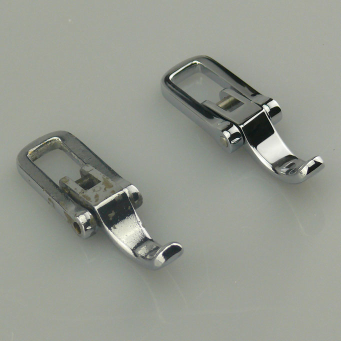 Original und Nachguss einer Motorhauben Verriegelung für Messerschmitt aus massiv Messing glänzend verchromt, nachguss.de