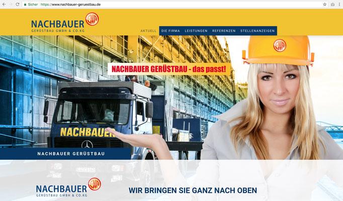 Firmenhomepage Nachbauer Gerüstbau GmbH & Co.KG / https://www.nachbauer-geruestbau.de/