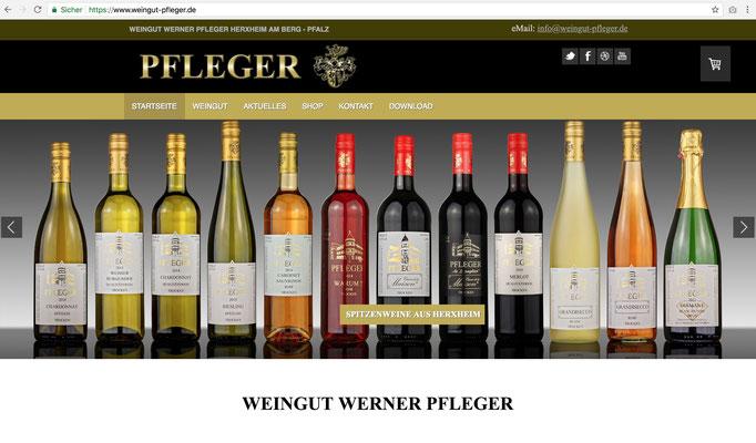 Firmenhomepage Weingut Werner Pfleger / https://www.weingut-pfleger.de/