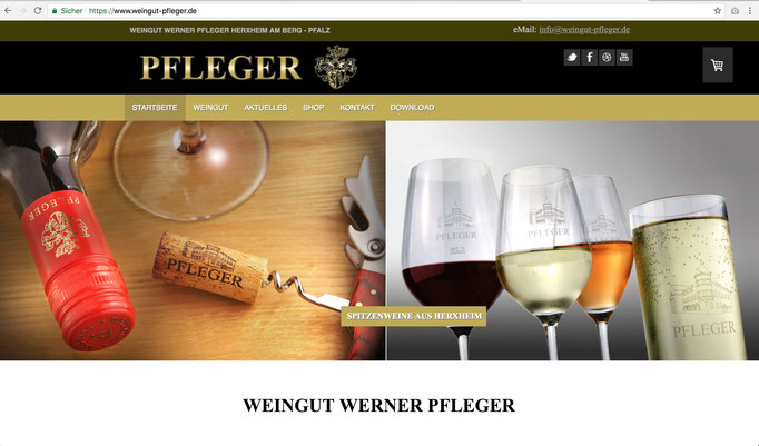 Webseite Weingut Werner Pfleger / https://www.weingut-pfleger.de/