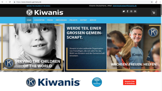 Webdesign von STEFAN ELLBRÜCK DESIGN / www.kiwanis.de