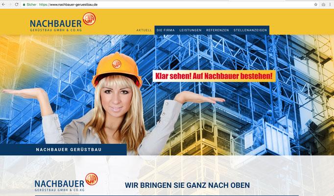 Webseite Nachbauer Gerüstbau GmbH & Co.KG / https://www.nachbauer-geruestbau.de/