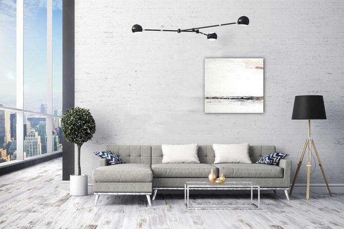 Weißes Bild für Sofa