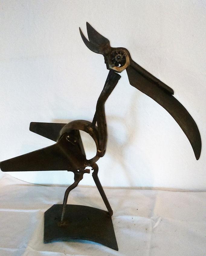 Oiseau fauché h 51cm disponible